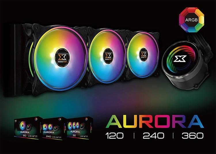 Xigmatek Aurora: трио СЖО с яркой подсветкой ARGB LED