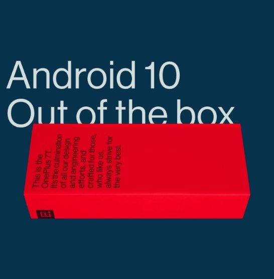 OnePlus 7T станет первым в мире смартфоном, из коробки работающим под управлением Android 10