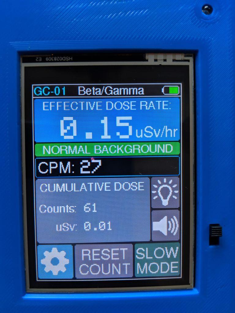 Самодельный счётчик Гейгера на ESP8266 с сенсорным экраном - 15