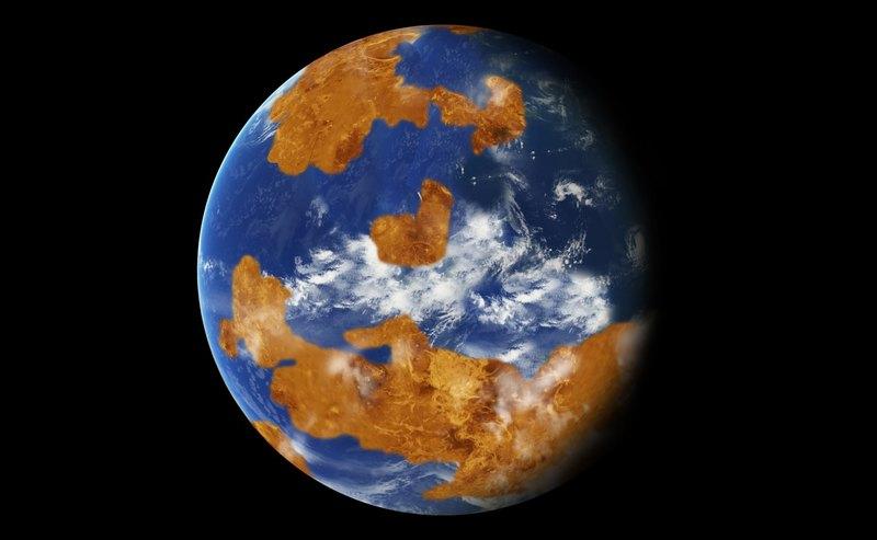 Как могла бы выглядеть Венера сводной оболочкой, вхудожественном представлении