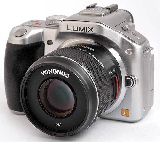 Опубликовано первое изображение объектива Yongnuo 42.5mm f/1.7 системы Micro Four Thirds