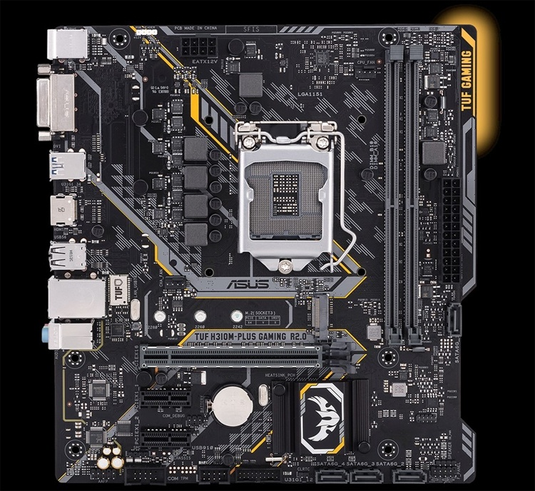 ASUS TUF H310M-Plus Gaming R2.0: плата с поддержкой Aura Sync RGB для игрового ПК