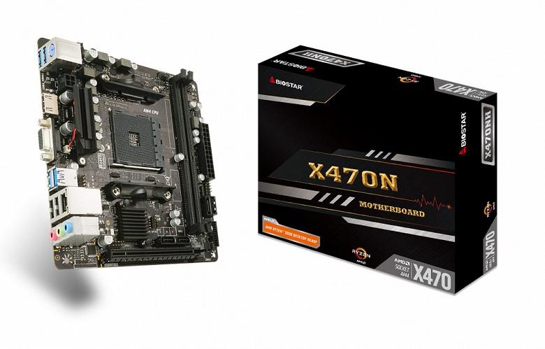 Системная плата Biostar X470NH выполнена в типоразмере mini-ITX