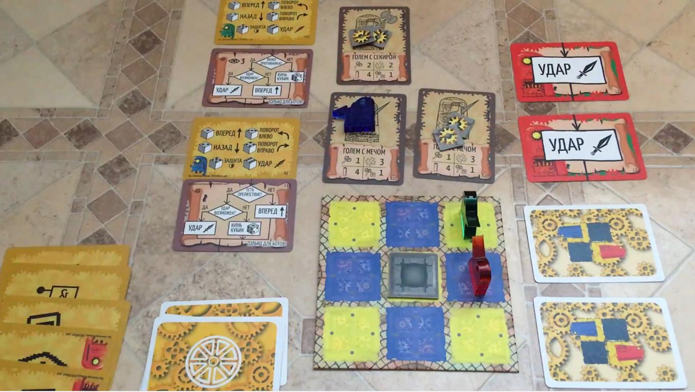 Битва Големов из карт. Как мы превращали игру в Карточную лигу Пароботов - 1