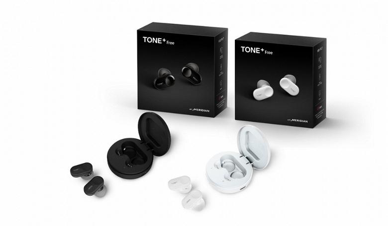 LG Tone+ Free — полностью беспроводные наушники с шумоподавлением, защитой от влаги и быстрой зарядкой