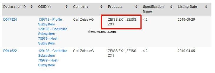Анонсированная год назад камера Zeiss ZX1 прошла сертификацию Bluetooth