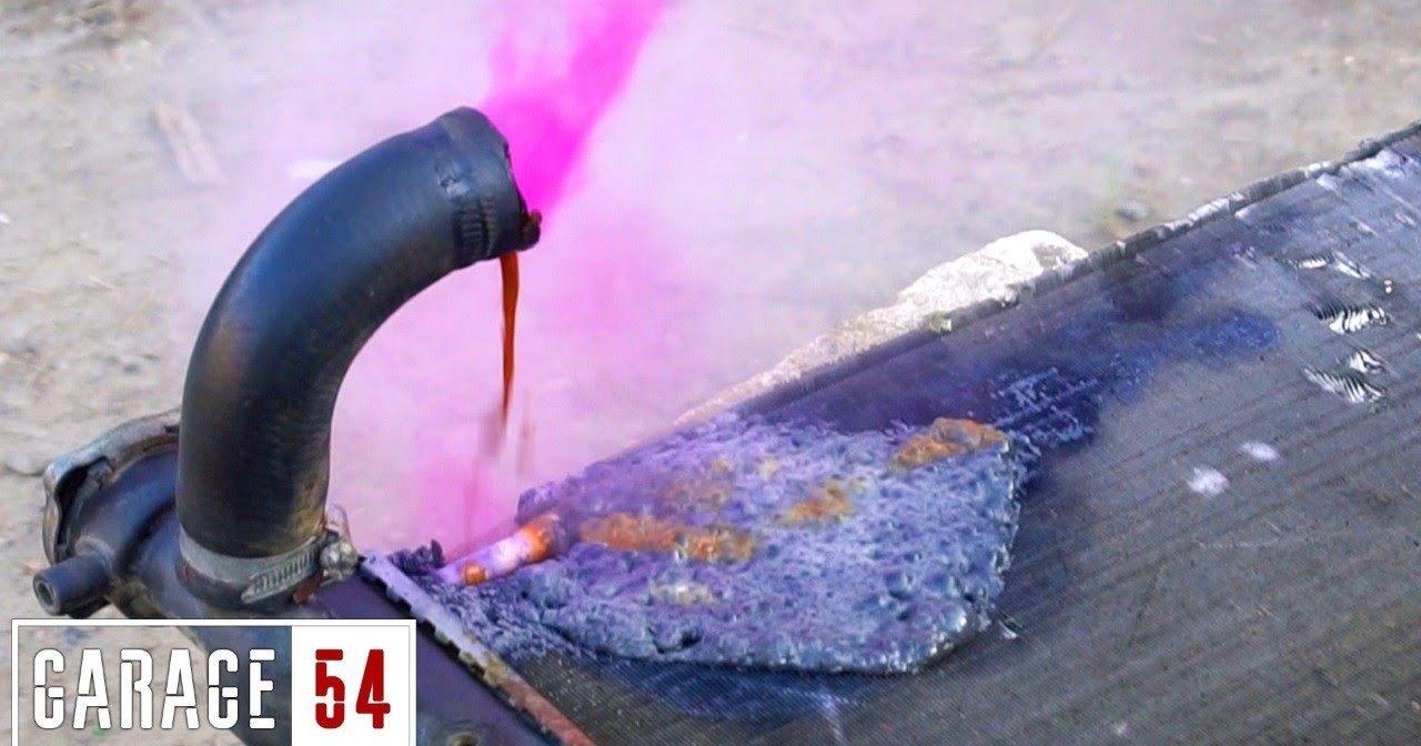 Однохлористый йод в радиатор: фиолетовое облако