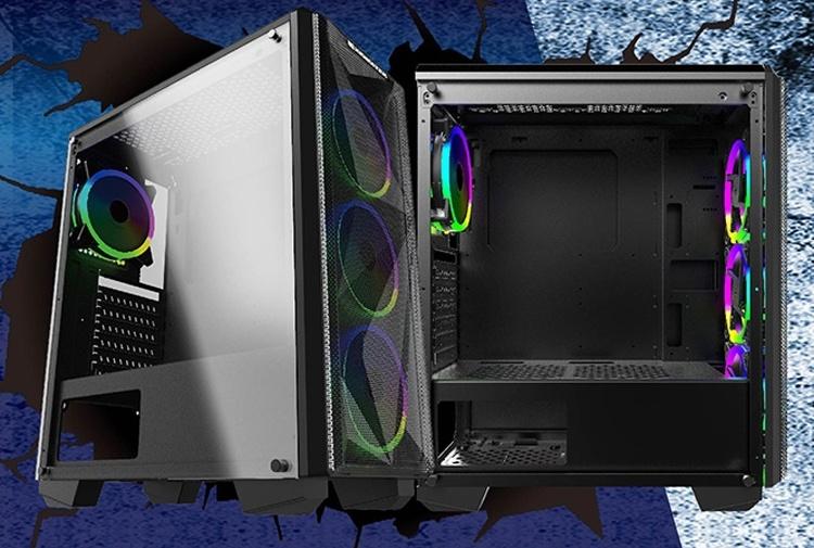 Элегантный ПК-корпус Xigmatek Beast оборудован четырьмя RGB-вентиляторами