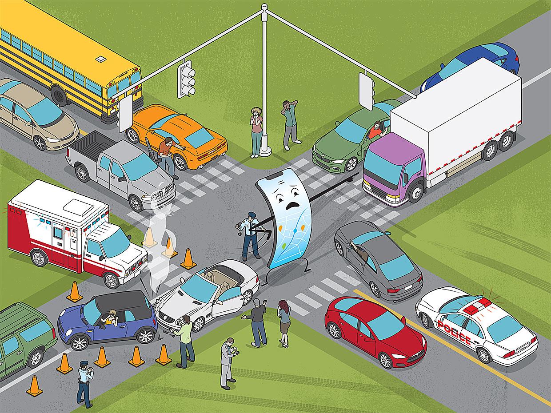 Ваш мобильный навигатор затрудняет управление дорожным движением - 1