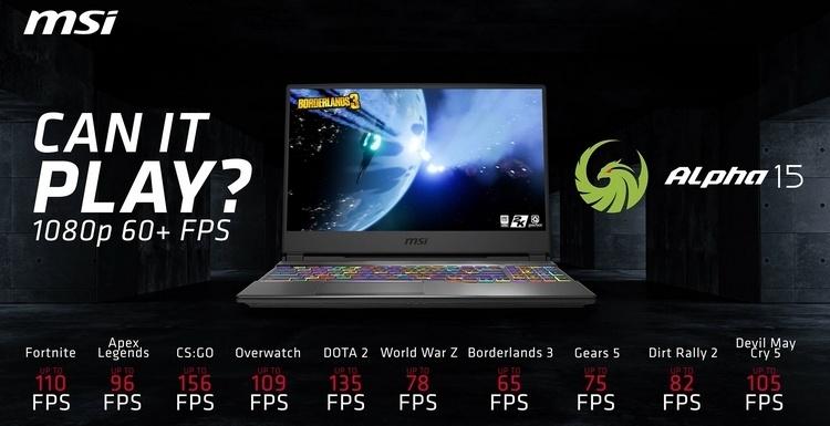MSI Alpha 15: первый ноутбук компании на Ryzen и первый в мире с Radeon RX 5500M