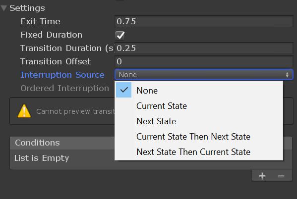 Как использовать прерывания в Unity Animator на полную - 3