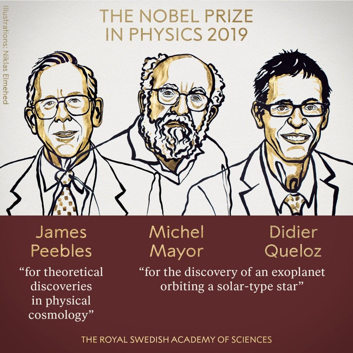 Нобелевскую премию по физике дадут за открытия в космологии и первую найденную экзопланету - 1