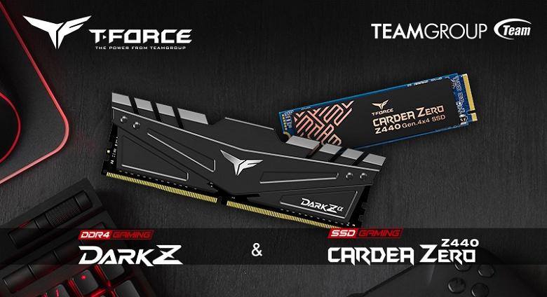 По словам Teamgroup, оперативная память T-Force Dark Za DDR4 и твердотельный накопитель Cardea Zero Z440 разработаны специально для платформы AMD X570