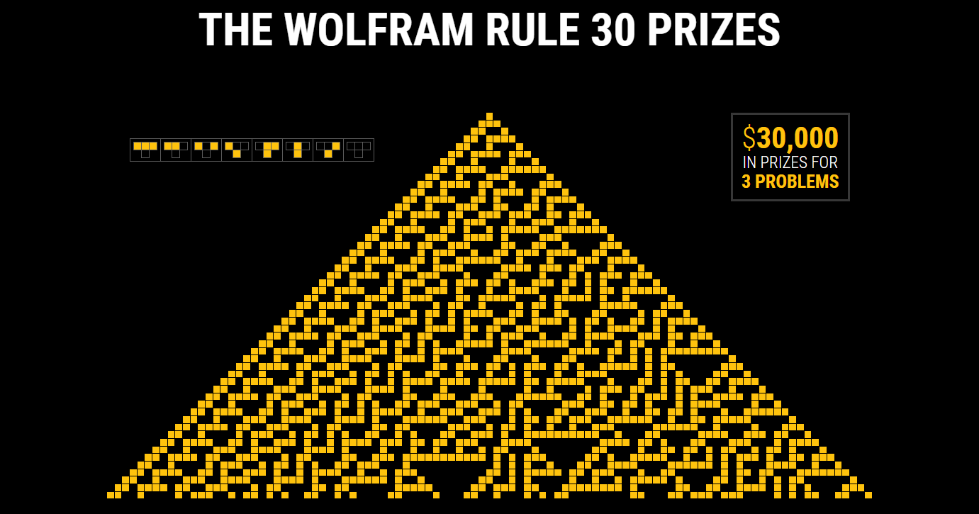 30.000$ за решение задач о Правиле 30 для клеточных автоматов — конкурс от Стивена Вольфрама - 1