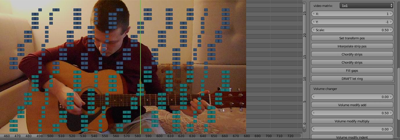 Генератор музыкальных каверов на Python в Blender - 4