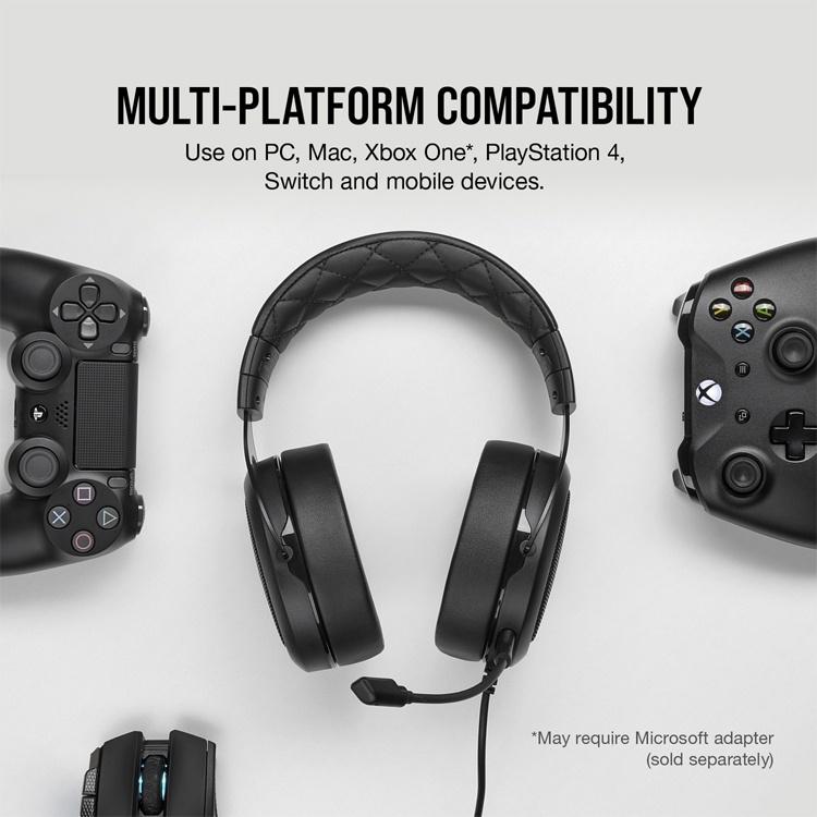 Трио игровых гарнитур Corsair HS Pro Series для компьютеров и консолей