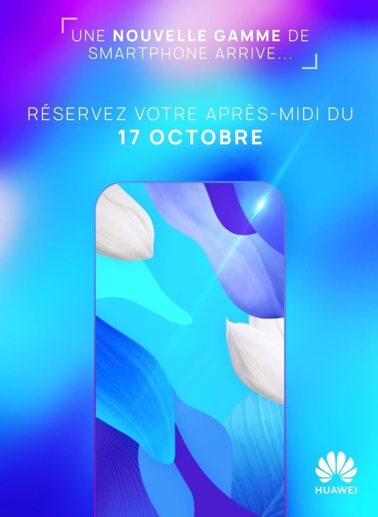 Huawei представит новый смартфон 17 октября во Франции