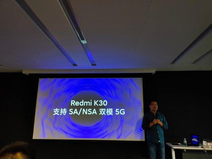 Анонсирован Redmi K30: первый смартфон компании с модемом 5G и двойной камерой, врезанной в экран