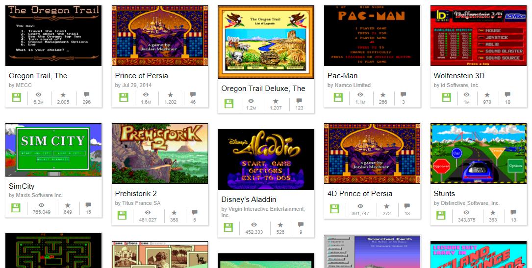 В Internet Archive добавили ещё 2500 игр для MS-DOS - 1