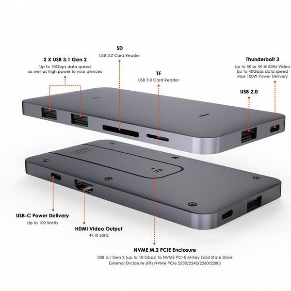 Flujo Signature Pro объединяет функции концентратора USB и внешнего накопителя