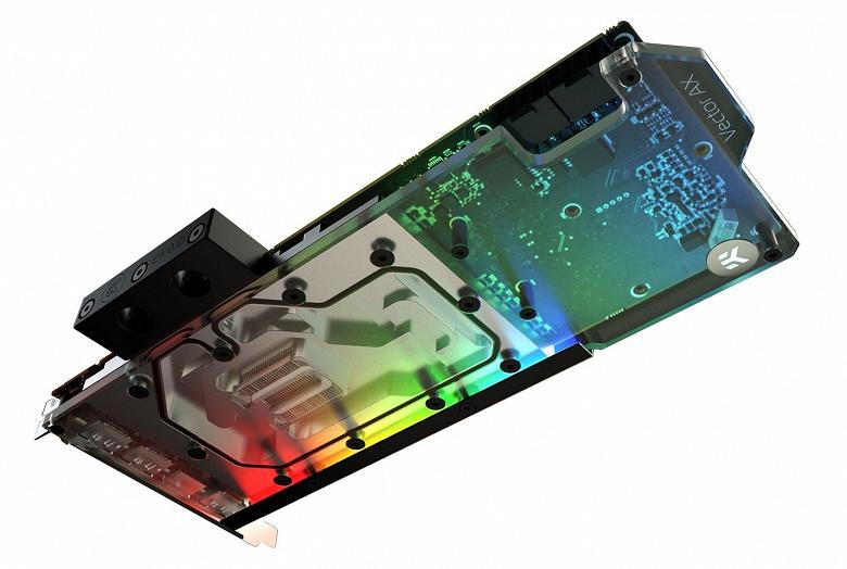 Основание водоблока EK-AC Radeon RX 5700 +XT D-RGB изготовлено из алюминия