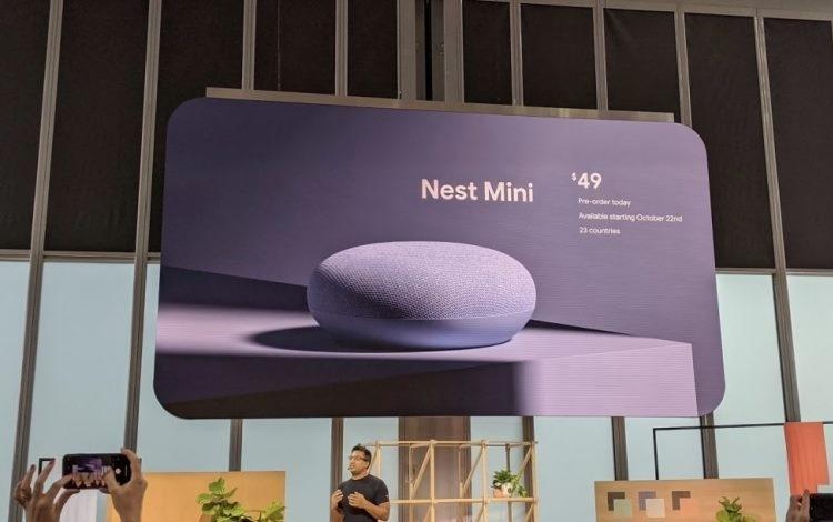 Портативная колонка Google Nest Mini представлена официально