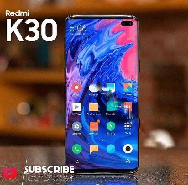 Не отличить от Samsung Galaxy S10+. Redmi K30 позирует на изображении во весь рост