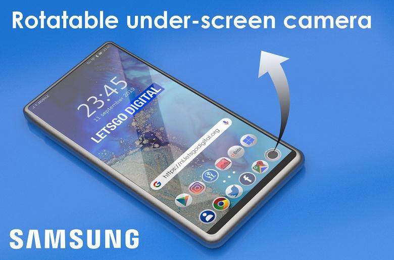 Галерея дня: у смартфона-слайдера Samsung скрытая камера вращается вместе с выдвижным гибким экраном
