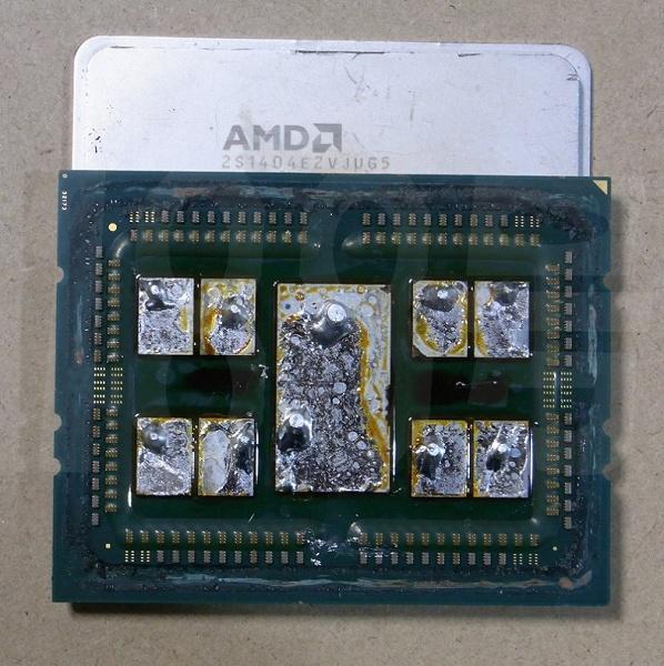 Под крышками новых 64-ядерных процессоров AMD находится припой