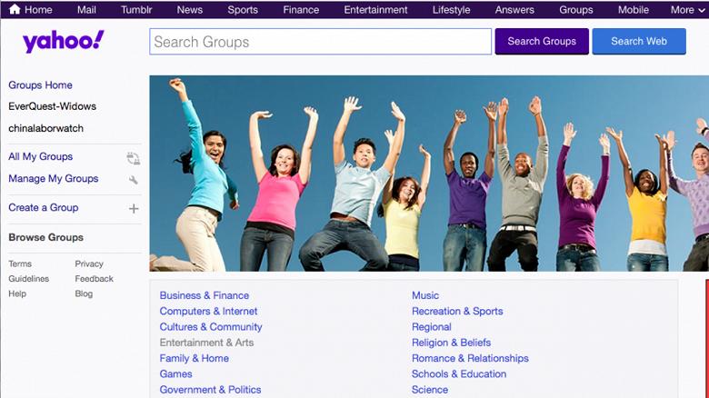 Сайт Yahoo! Groups будет закрыт и весь контент удален