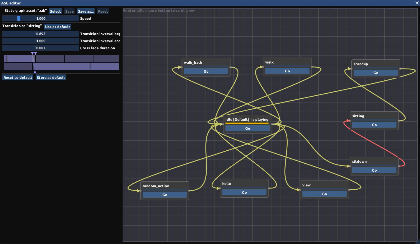 Анимационный граф состояний - 2