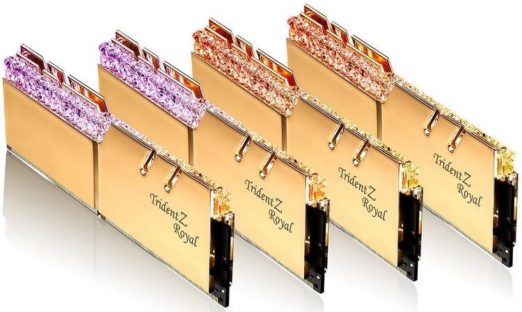 G.Skill представила 32-Гбайт комплекты Trident Z (Royal) с частотой 4000 МГц и задержками CL15