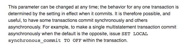 PostgreSQL и настройки согласованности записи для каждого конкретного соединения - 2