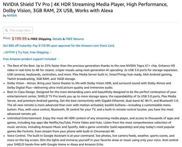 Дебют новой приставки NVIDIA Shield TV Pro может состояться через неделю