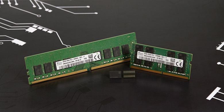 Специалисты SK hynix разработали память DRAM DDR4 плотностью 16 Гбит, рассчитанную на выпуск по нормам 1Z нм