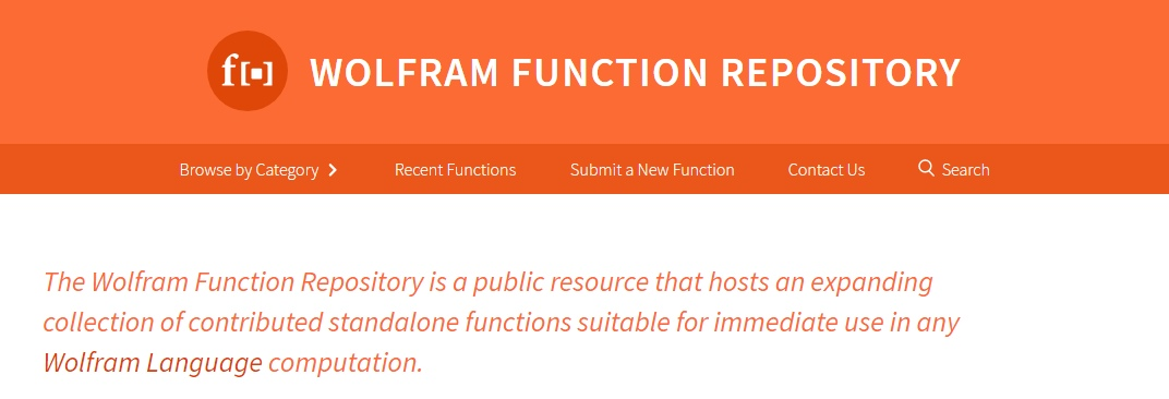Wolfram Function Repository: открытый доступ к платформе для расширений языка Wolfram - 1