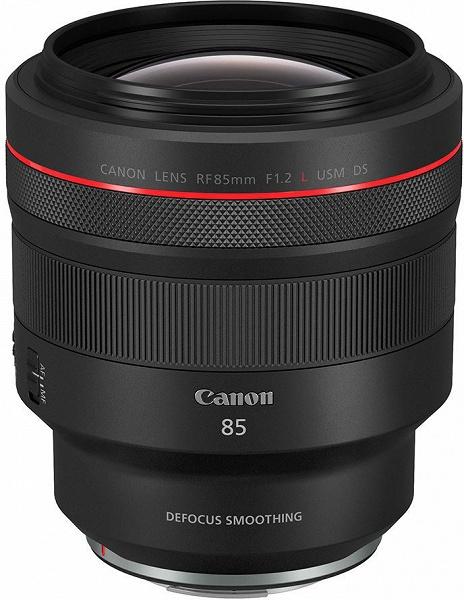 Представлен объектив Canon RF 85mm F1.2L USM DS