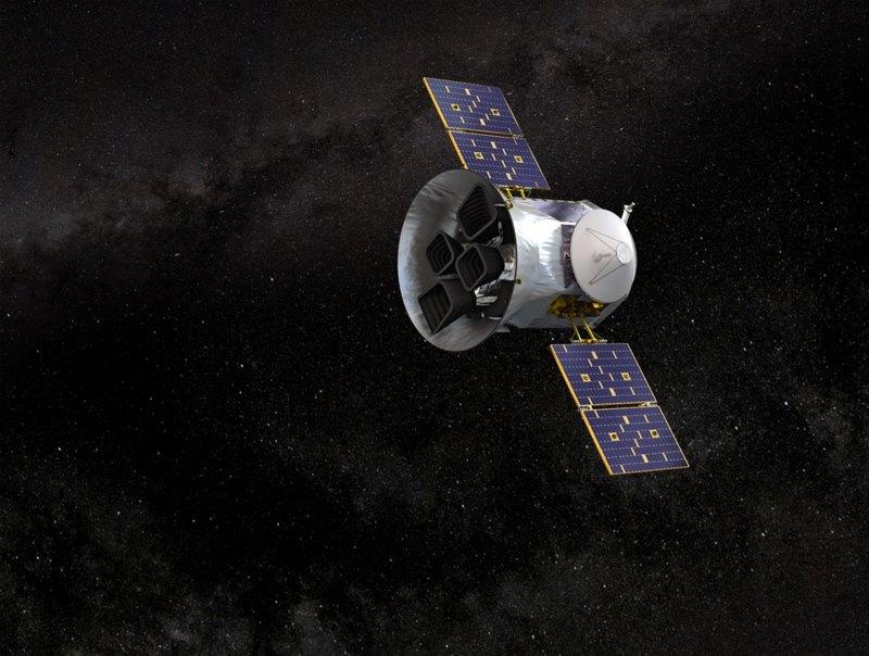 Телескоп TESS вхудожественном представлении