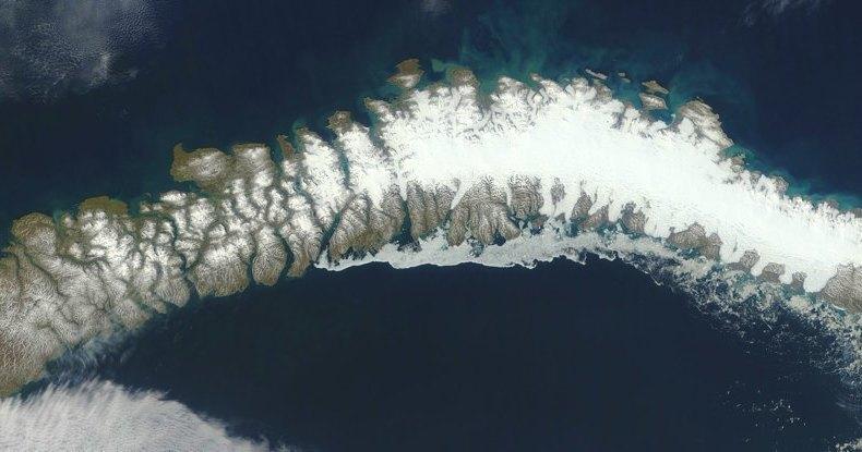 5 новых островов показались из-под тающего ледника в Арктике