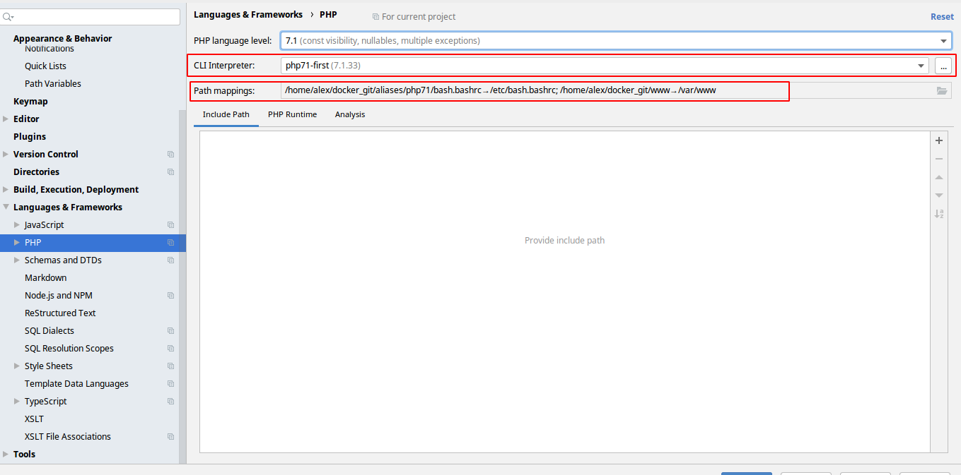 Docker + php-fpm + PhpStorm + Xdebug - 15