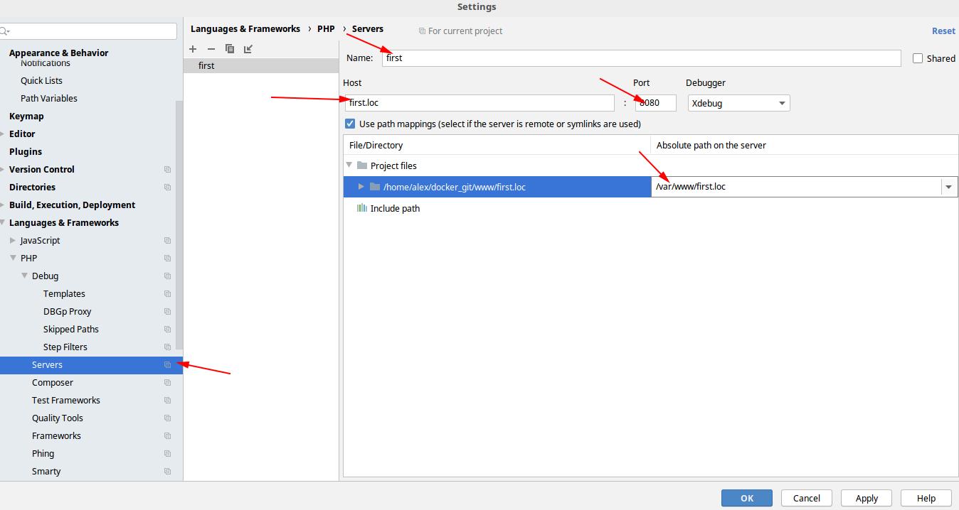 Docker + php-fpm + PhpStorm + Xdebug - 20