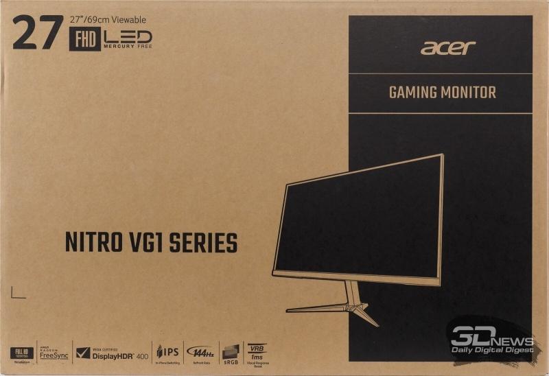 Новая статья: Обзор игрового 27-дюймового Full HD-монитора Acer Nitro VG271Pb: тебя мы ждали много лет