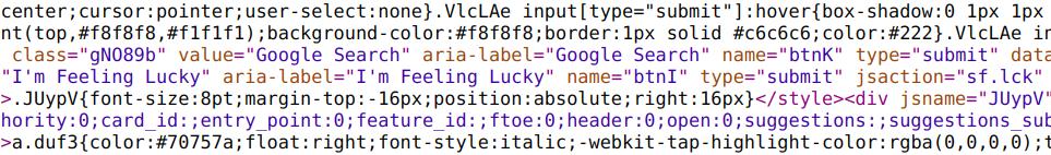 HTML mess