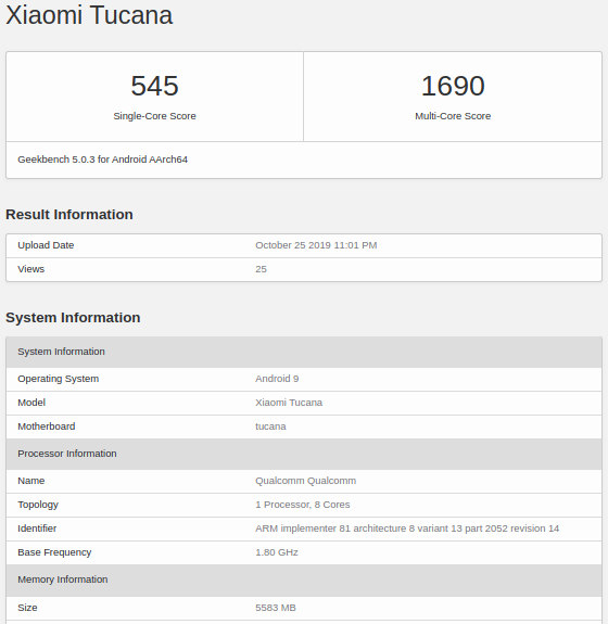 Подтверждено: Xiaomi CC9 Pro с шокирующей 108-мегапиксельной камерой не получит топовую платформу