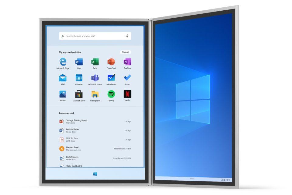 В сеть утекла документация по Windows 10X — новой версии ОС для устройств с двумя экранами - 1