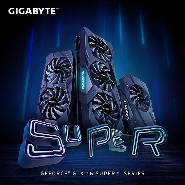 Квартет видеокарт GIGABYTE GeForce GTX 16 Super с разгоном