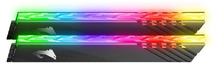 Новый комплект DDR4-памяти Aorus RGB на 16 Гбайт поддерживает быстрый разгон