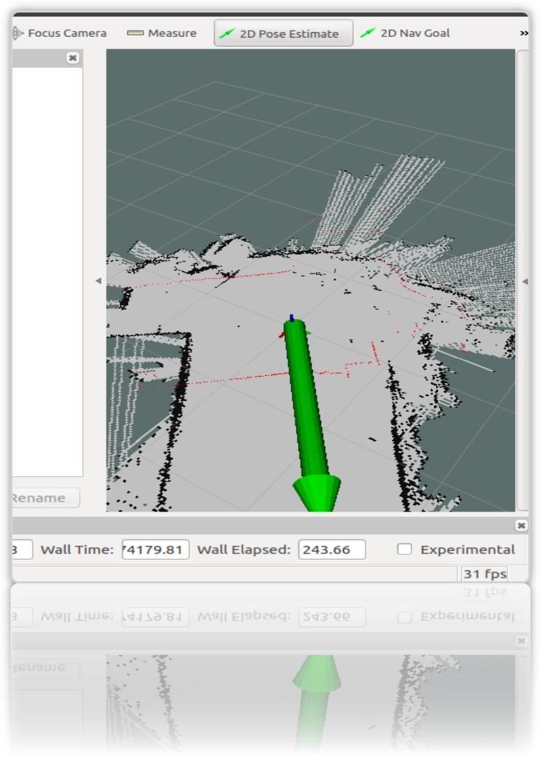 Робот-тележка на ROS. Часть 7. Локализация робота: gmapping, AMCL, реперные точки на карте помещения - 5