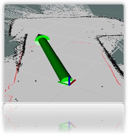 Робот-тележка на ROS. Часть 7. Локализация робота: gmapping, AMCL, реперные точки на карте помещения - 7