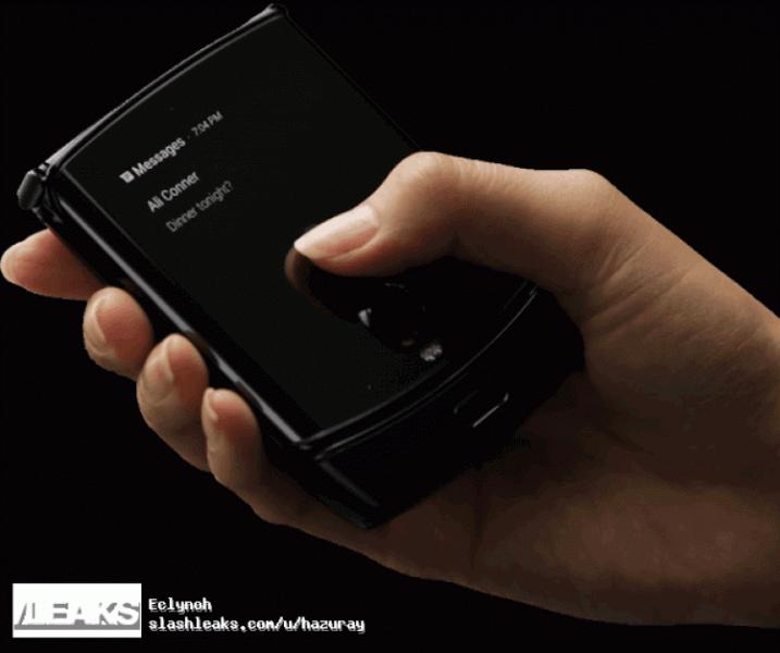 Впечатляющий Motorola Razr с гибким экраном в руках пользователя